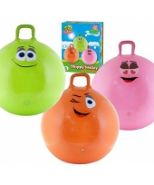 Gekleurde skippybal voor kids 70 cm trend