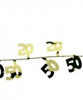 Gekleurde slingers 50 jaar 270 cm trend
