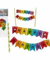 Gekleurde taart prikker happy birthday trend