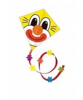 Gekleurde vlieger voor kinderen clown trend