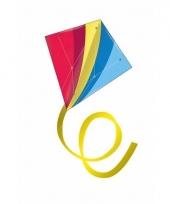 Gekleurde vlieger voor kinderen diamant vormig trend