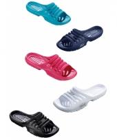 Gekleurde zwembad sandalen voor dames trend