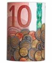 Geld spaarpot 10 euro biljet 10 x 15 cm trend
