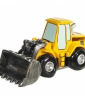 Geld spaarpot gele tractor trend