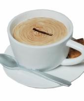 Geld spaarpot kopje koffie trend