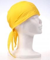 Gele bandana van luxe kwaliteit trend