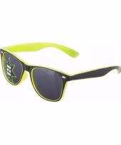 Gele feestbrillen lichtgevend trend