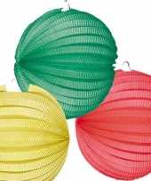 Gele groene en rode lampionnetjes trend