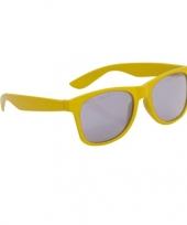 Gele kinder feest en zonnebril wayfarer trend