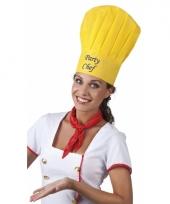 Gele koksmuts party chef trend