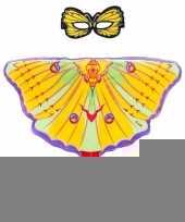 Gele komeetstaart vlinder verkleedset voor meisjes trend