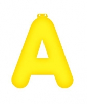 Gele letter a opblaasbaar trend