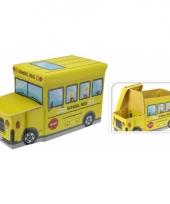 Gele schoolbus opbergbox 55 cm trend