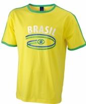 Gele shirts met vlag van brazilie heren trend