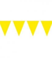 Gele slinger met vlaggetjes trend