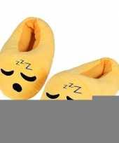 Gele smiley kids slofjes zzz voor kinderen trend