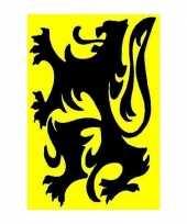 Gele vlag met zwarte leeuw vlaanderen trend