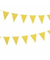 Gele vlaggenlijn met witte stippen 4 meter trend