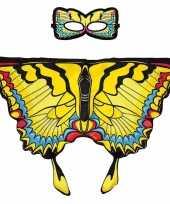 Gele zwaluwstaart vlinder verkleedset voor meisjes trend