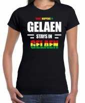 Geleen gelaen carnaval outfit t-shirt zwart dames trend