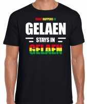 Geleen gelaen carnaval outfit t-shirt zwart heren trend