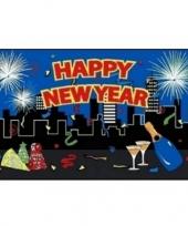 Gelukkig nieuwjaar vlag trend 10051897