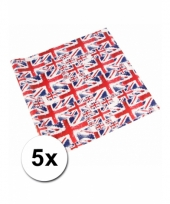 Geschenkpapier britse vlag 5 x trend