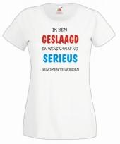 Geslaagd t-shirt wit voor dames trend