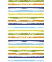 Gestreept tafellaken tafelkleed 120 x 180 cm gekleurd trend
