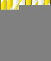 Gestreepte rietjes geel wit trend