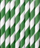 Gestreepte rietjes groen wit trend