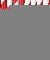 Gestreepte rietjes rood wit trend