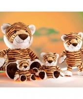 Gestreepte tijger knuffel 18 cm trend
