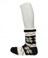 Gevoerde noorse huissokken zwart wit trend