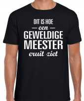 Geweldige meester cadeau t-shirt zwart voor heren trend