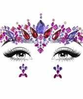 Gezichtsjuwelen prinses verkleed sticker set zelfklevend trend