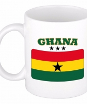 Ghanese vlag theebeker 300 ml trend