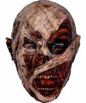 Ghoulish mummie latex masker voor volwassenen trend