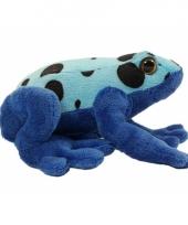 Gifkikker knuffeldier azureus blauw 18 cm trend