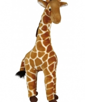 Giraffe knuffel licht bruin 60 cm trend