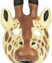 Giraffe masker soft foam materiaal trend