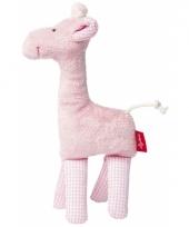Giraffe roze knuffel kraamcadeau 19 cm trend
