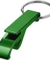 Give away flessenopeners groen trend