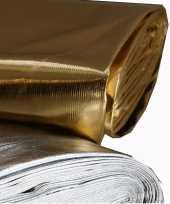 Glanzende stof zilver per meter trend