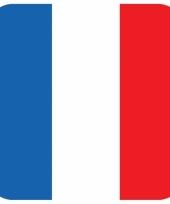 Glas viltjes met franse vlag 15 st trend