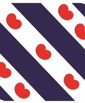 Glas viltjes met friese vlag vlag 15 st trend