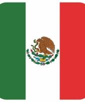 Glas viltjes met mexicaanse vlag 15 st trend