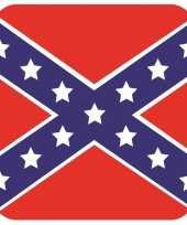 Glas viltjes met redneck vlag 15 st trend
