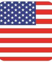 Glas viltjes met verenigde staten vlag 15 st trend