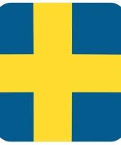 Glas viltjes met zweedse vlag 15 st trend